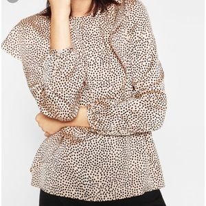 Zara Double Frill Printed Top